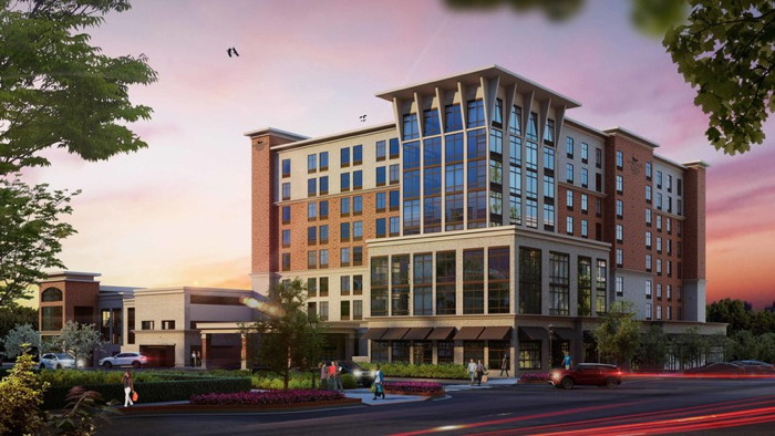 Rendering of the Homewood Suites by Hilton Greenville Downtown Hotel