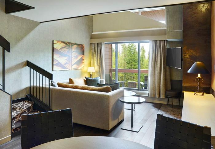 Bi-Level Loft Suite at the Kananaskis Mountain Lodge