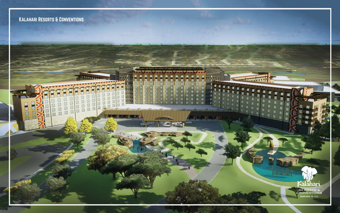Rendering of the Kalahari Resorts and Conventions Round Rock, Texas