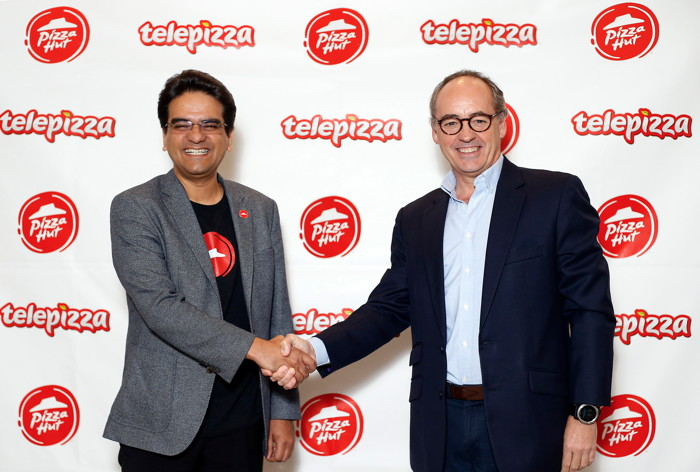 Milind Pant, President, Pizza Hut International, and Pablo Juantegui, Executive Chairman and Chief Executive Officer, Telepizza Group