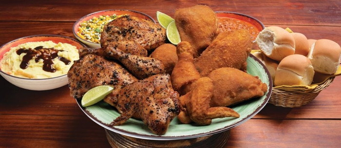 Various Pollo Campero dishes