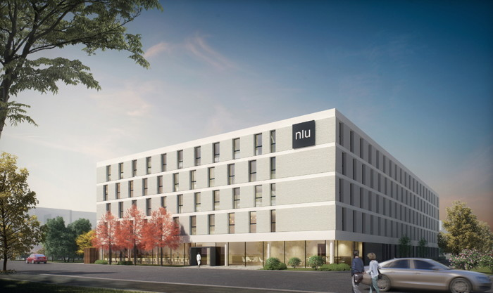 Rendering of the niu Hotel Announced for Eschborn in Germany