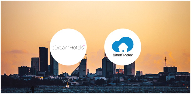 eDream Hotels and SiteMinder logos