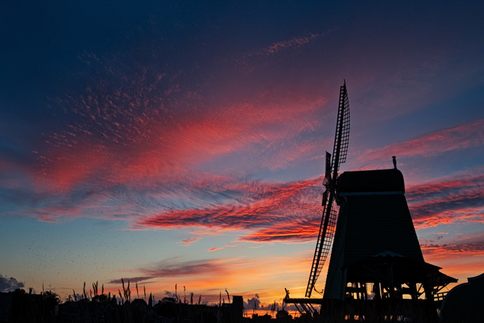 Windmills at sunset - Photo by malcolm lightbody on Unsplash