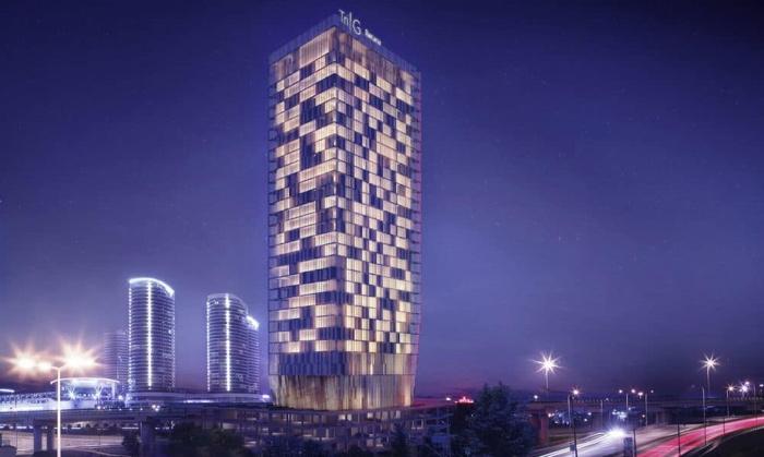 Rendering of the WestSide Arjaan by Rotana Hotel
