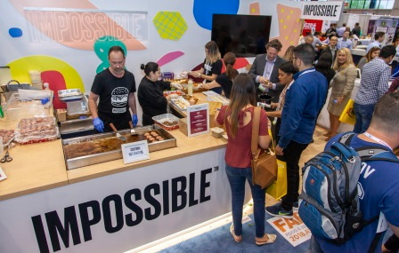 Impossible Burger stand at the Restaurant SHow