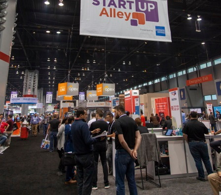 Startup Alley trade show floor