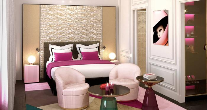 Guestroom at the FAUCHON L'Hôtel Paris