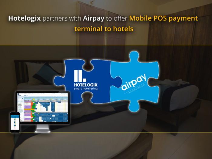 Hotelogix and Airpay logos