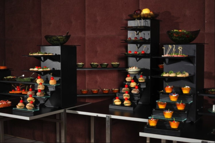 A buffet display