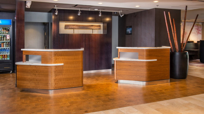 Courtyard by Marriott Welcome Pedestals