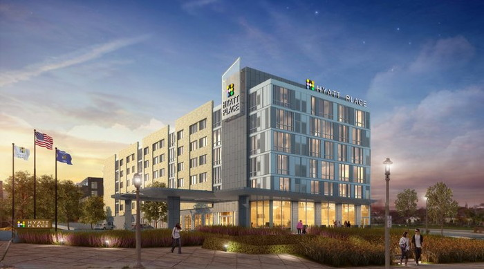 Rendering of the Hyatt Place Milwaukee/Downtown Hotel