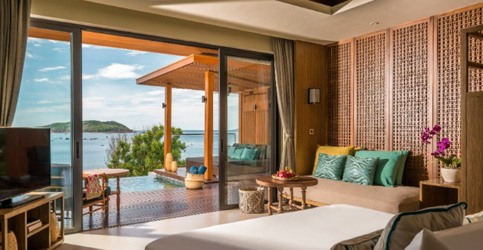 Located in a secluded bay in south central Vietnam, Anantara Quy Nhon Villas will comprise 26 one- and two-bedroom ocean-facing villas ensconced amidst 7.2 hectares of landscaped tropical gardens.