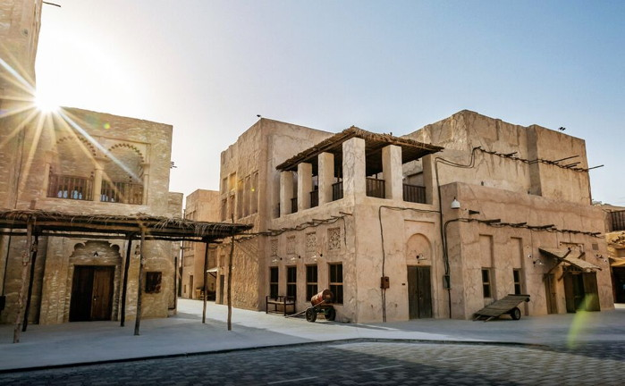 Tucked away amidst the rooftops and courtyards of a souk located on the banks of Dubai Creek, the 200 room hotel is spread across 22 traditionally designed Arabian Bayt (homes), adorned with the wind