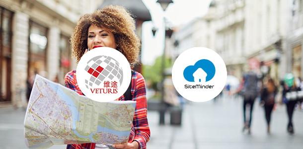 Veturis Travel and SiteMinder logos
