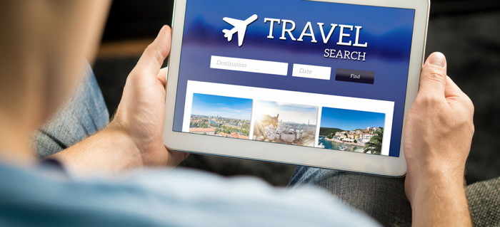 Travel search on a tablet