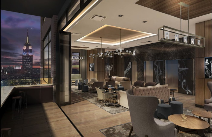 Aliz Hotel Times Square - Aliz 41th Floor Lounge rendering
