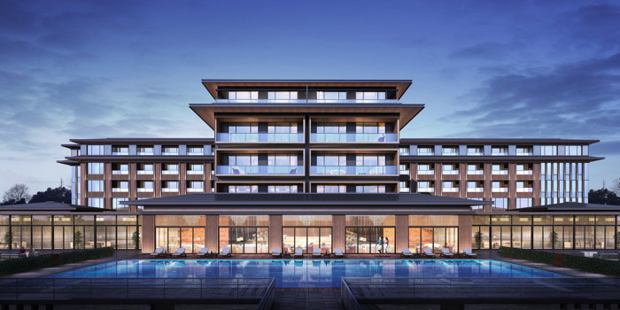 Rendering of the Anantara Jinsha Chengdu Hotel