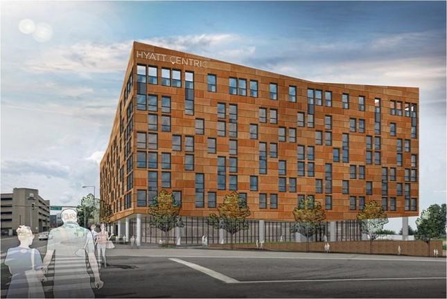 Rendering of the Hyatt Centric Hotel Memphis