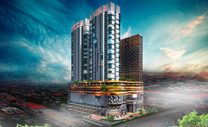 Rendering of the AVANI Kota Kinabalu Hotel