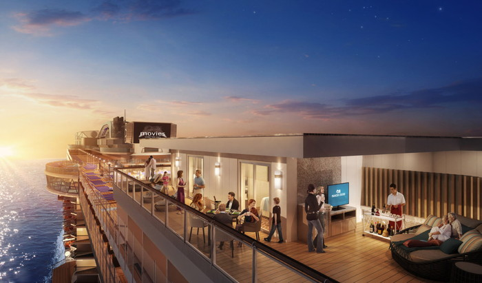 Rendering of the  the Sky Suites Crown Sky Princess