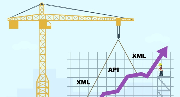 Illustration - Trio Data Engine - XML API Crane concept