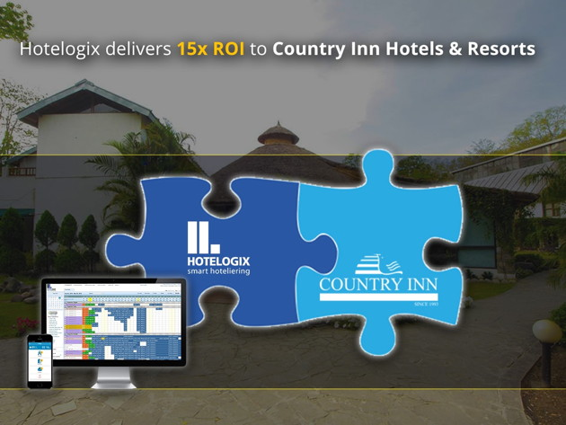 Hotelogix and Country Inn Hotels & Resorts logos