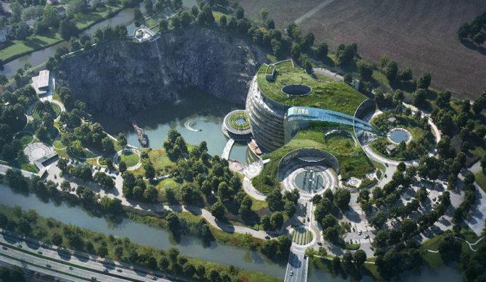 InterContinental Shanghai Wonderland - Aerial view