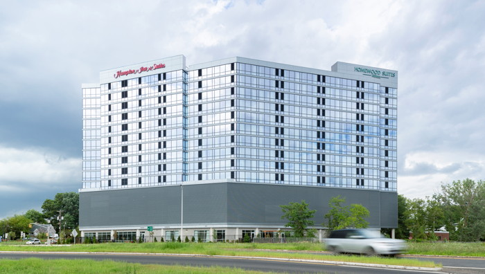 Dual-Brand Hilton Hotel in Teaneck Glenpointe, New Jersey - Exterior