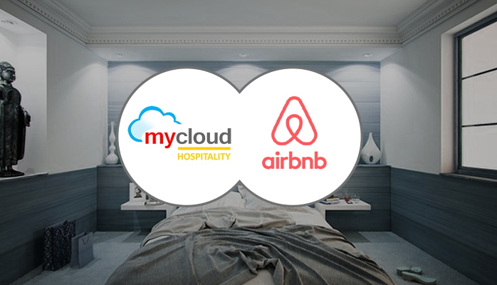 mycloud Hospitality and Airbnb logos
