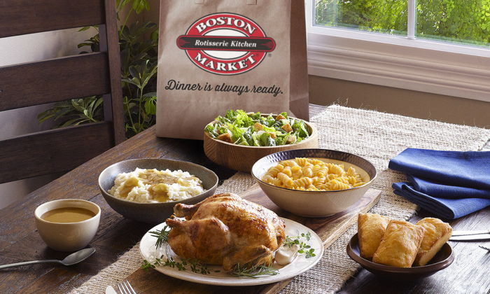 Various Boston Market products