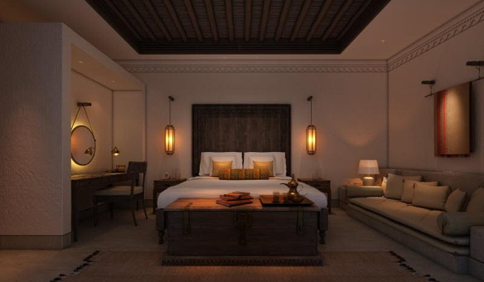 Guestroom at the Al Bait Sharjah Hotel