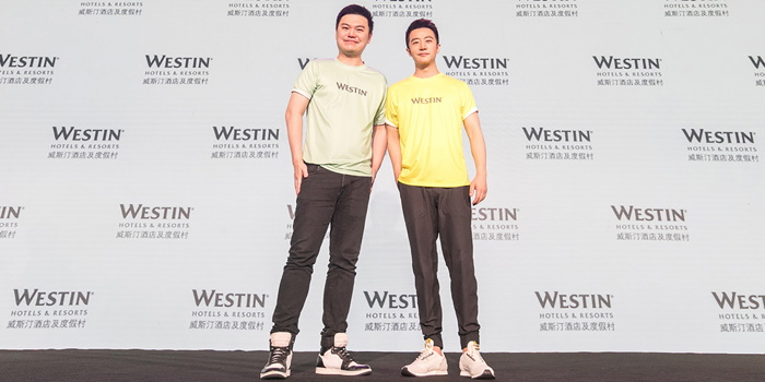 Andy Kong (Left), Director of Brand and Marketing, Asia Pacific, Marriott International with Huang Xuan