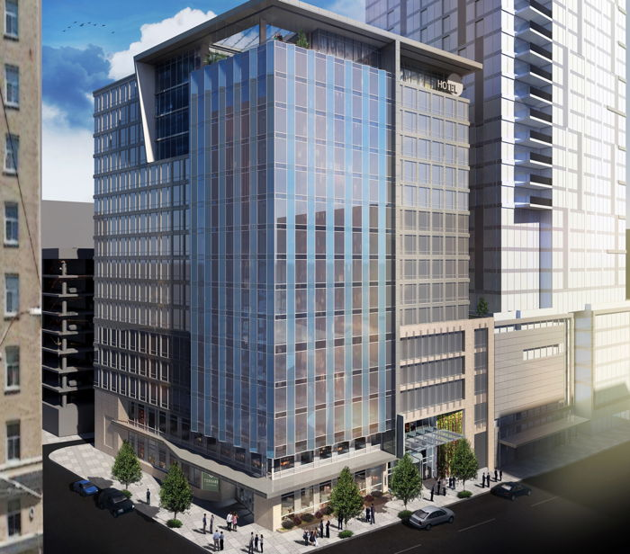 Rendering of the The Charter Hotel Seattle