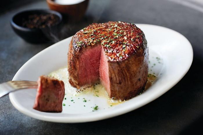 A Ruth's Chris steak