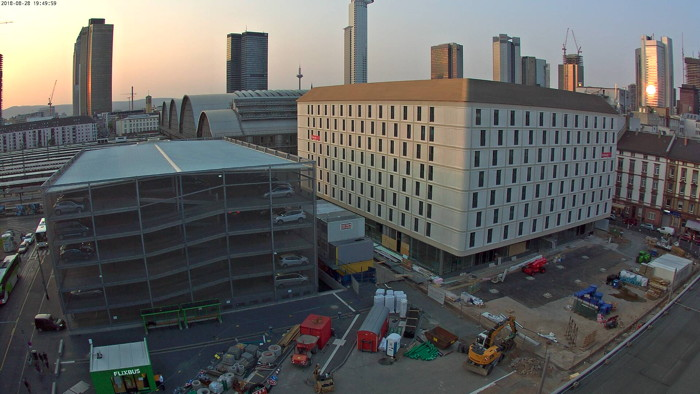 Intercityhotel Frankfurt Hauptbahnhof Süd - Construction progress