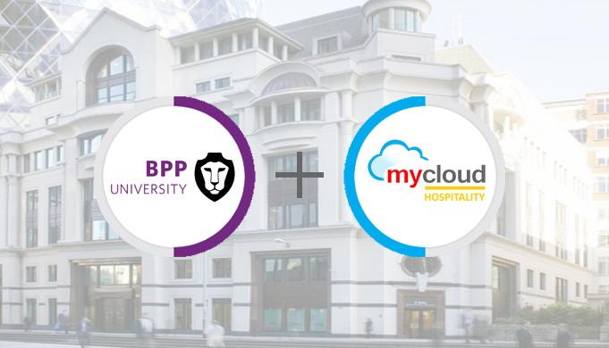 BPP University and mycloud Hospitality logos
