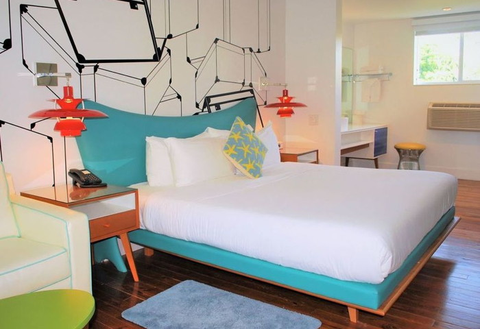Guestroom at the The Vagabond in Miami - Courtesy The Vagabond