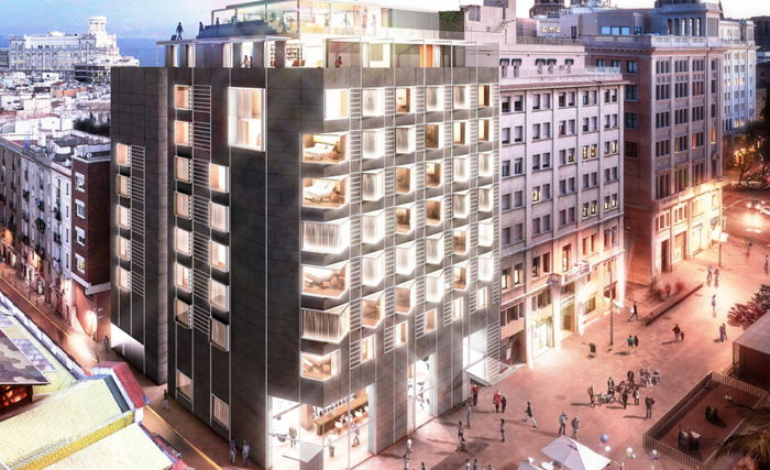 Rendering of the Barcelona EDITION Hotel