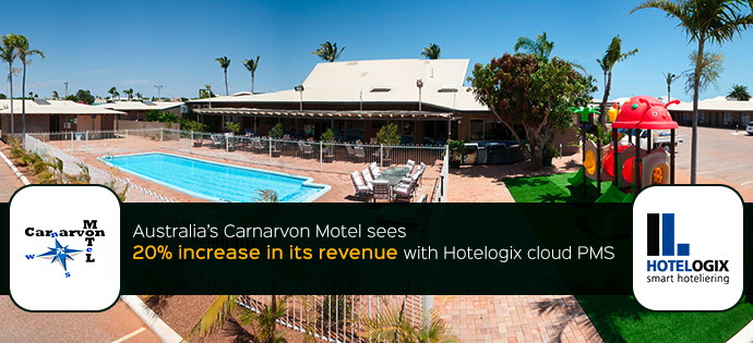Carnarvon Motel and Hotelogix logos