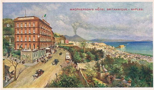 Postcard of the Hotel Britannique Naples
