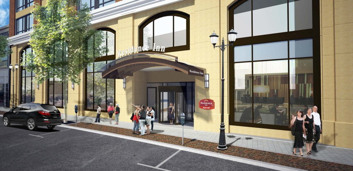 Rendering of the Residence Inn by Marriott Stamford Downtown