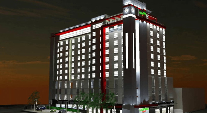 Rendering of the Courtyard by Marriott Dallas Downtown/Reunion District
