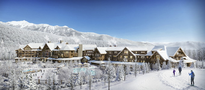 Rendering of the Montage Big Sky Resort