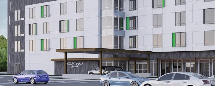 Rendering of the Courtyard by Marriott Savannah Airport Hotel
