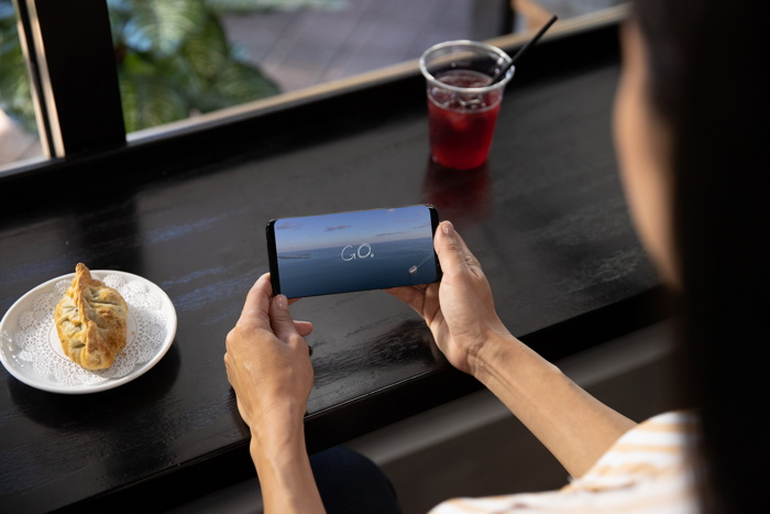 Carnival Corporation OceanView app on a mobile phone