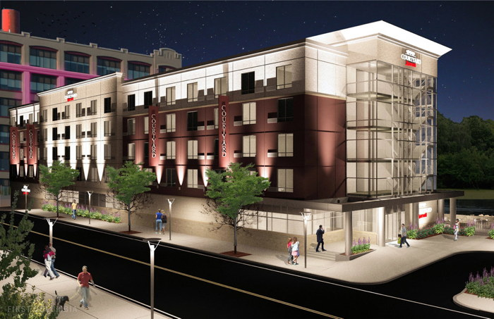 Rendering of the Courtyard by Marriott Albany Troy/Waterfront