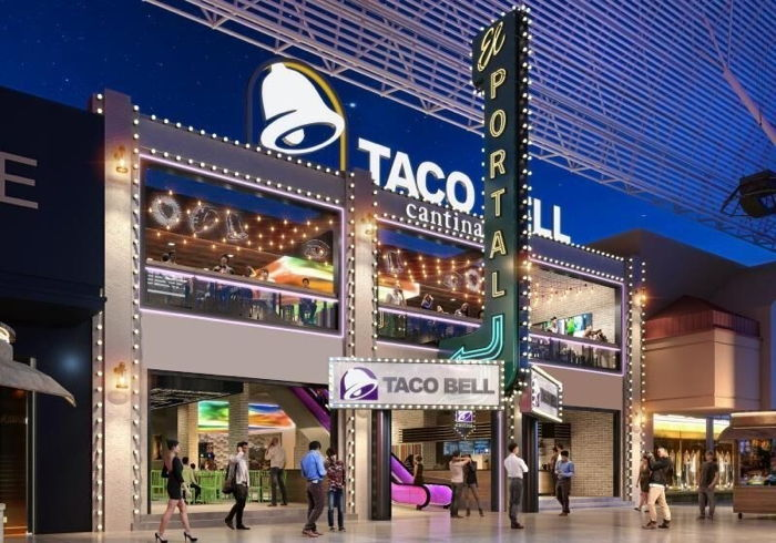 Rendering of the Taco Bell Eyes Las Vegas Cantina