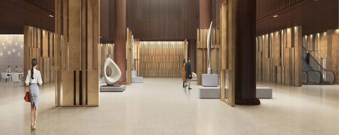 Rendering of the JW Marriott Seoul lobby