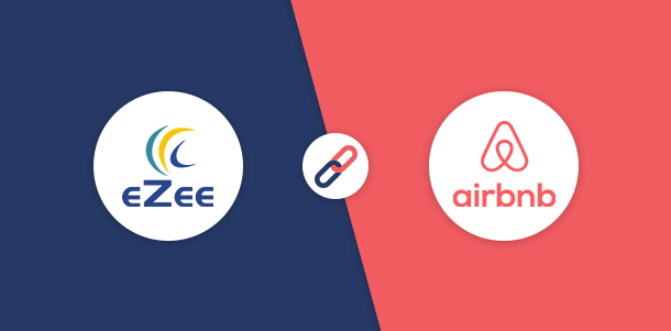 eZee Technosys and Airbnb logos